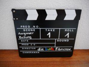 Bericht über die bunte Filmcrew in der Aargauer Zeitung