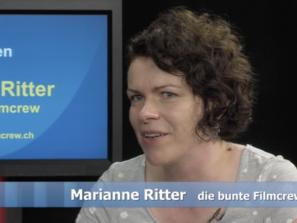 Marianne Ritter von der bunten Filmcrew in der Sendung